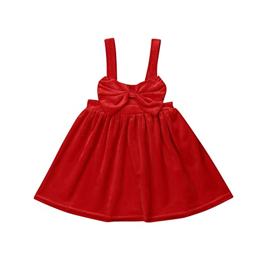 Amazon Com Toddler Girl Christmas Dresses Red Big Bow Fleece