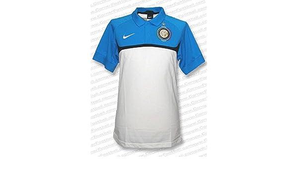 Nike - Inter Milan Polo BL 10 Hombre Color: Blanco Talla: XL ...