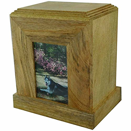 Photo Frame Wood Pet Cremation Urn Made from Rosewood for Pets Weighing Up to 300 Pounds Fast & Free Shipping ()