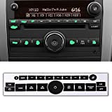 ROCCS 07-14 GM Vehicles Radio Dash Button Repair Kit Decal Fix Ruined Faded Audio Control Sticker Replacement for Denali Acadia Tahoe Silverado Escalade Buick Enclave