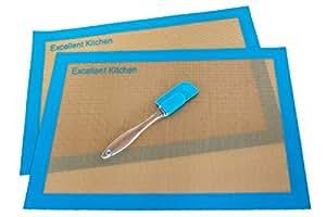 Silicone Baking Mat Premium Kitchen Accessories - Bakeware and Kitchen Gadgets Reusable Baking Sheet