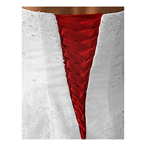 tutu.vivi Wedding Dress Zipper Replacement Adjustable Fit Corset Back Kit Lace Up Satin Red 14''