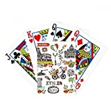 Autumn Colosseum Roma Italy Graffiti Poker Playing Card Tabletop Board Game Gift