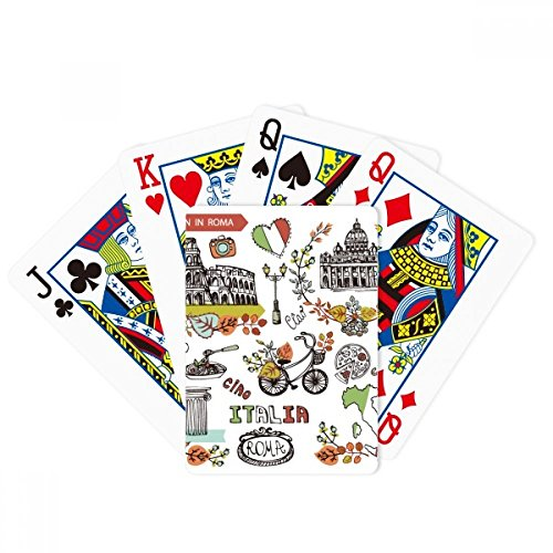 Autumn Colosseum Roma Italy Graffiti Poker Playing Card Tabletop Board Game Gift by beatChong