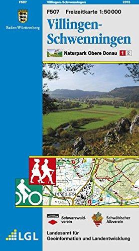 Villingen-Schwenningen: Karte des Schwäbischen Albvereins und des Schwarzwaldvereins (Naturpark Obere Donau 1:50000, Band 1)