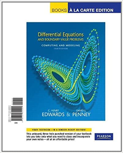 Differential equations and boundary value problems computing and differential equations and boundary value problems computing and modeling books a la carte edition 4th edition 4th edition fandeluxe Images