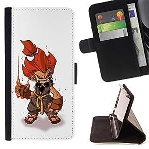 BullDog Case - FOR/Apple Iphone 5C / - / fire hair hero character game pc gaming /- Monedero de cuero de la PU Llevar cubierta de la caja con el ID Credit Card Slots Flip funda de cuer