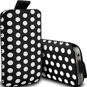 ONX3 Sony Xperia va ST27i Negro Polka Dot PU Tire Tab Case bolsa protectora