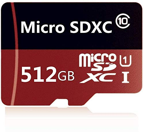 512GB Micro SDXC SD Card Memory Card High Speed Class 10 Micro SD Card with Adapter (512GB)