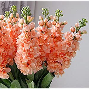 "Sksyeen 6PCS Stems 32"" Artificial Antirrhinum Snapdragon Silk Hyacinth Flowers (Champagne 2"
