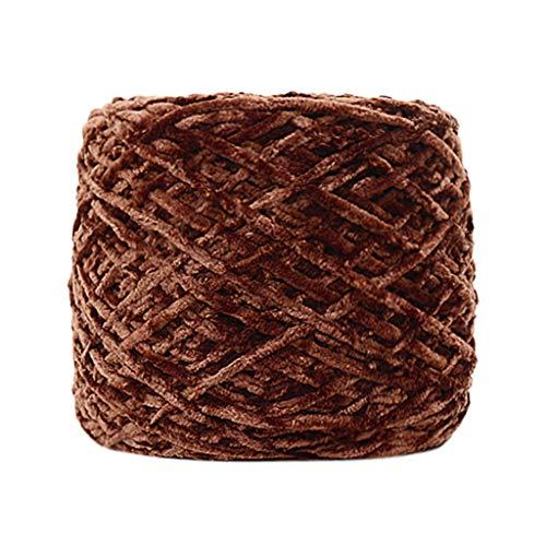 Ecurson Gold Velvet Yarn Roving,Multicolor Velvet Crochet Yarn for Hand Knitting Baby Blanket,Cushion,Sweater,Scarf