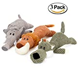 Unizero Pet Dog Squeaky Stuff Toy, Lion Elephant Wolf Pack for Small Medium and Large Dog,13 Inch,Set of 3