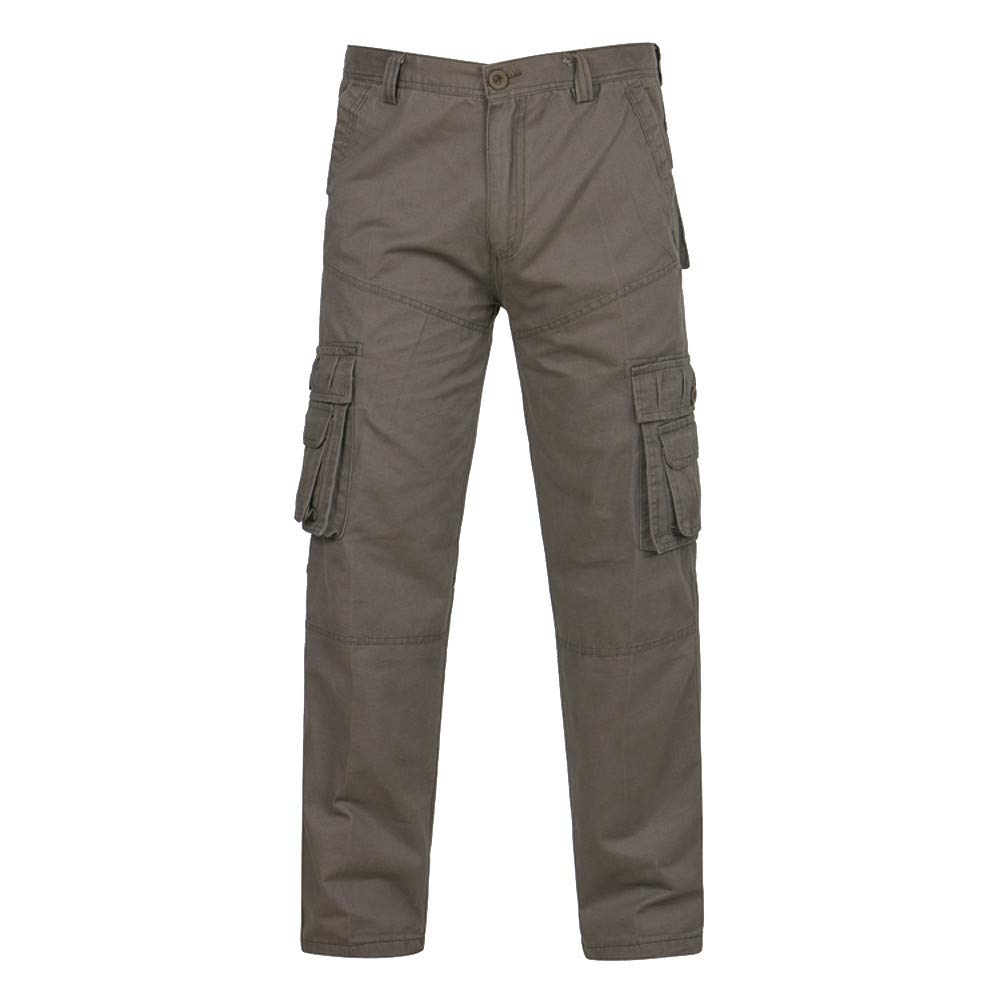 PASATO Clearance Sale!Fashion Men's Classic Casual Outdoors Button Multi-pocket Work Trouser Cargo Long Pants