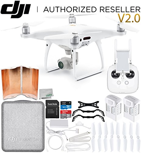 DJI Phantom 4 Pro V2.0/Version 2.0 Quadcopter Essential Flyer Bundle