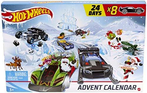 Hot Wheels Advent Calendar 24 Day Holiday SurprisesCars and Accessories Ages 3 and Older