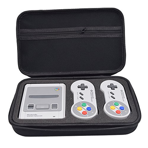 SNES Classic Mini Case Carrying Case for Nintendo Super NES Classic Mini Console, Fits for 2 Controllers and HDMI Cable -  Nigecue