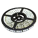 XKTTSUEERCRR 16.4ft/5M, Black PCB 3528 SMD 600LED, Cool White, Waterproof(IP65) Flexible Strip Light,DC 12V For Car/Truck/Mall/Booth/Stage/House Decoration (Power Supply Not Included)