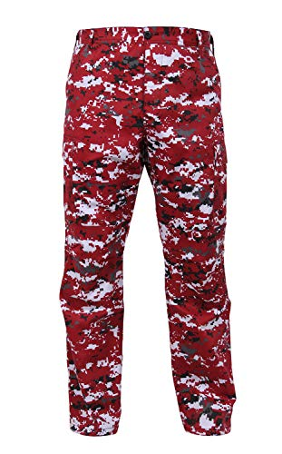 Rothco Digital Camo Tactical BDU Pants, Red Digital Camo, 2XL