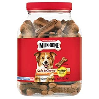 Milk-Bone Soft and Chewy Chicken 12 Vitamins and Minerals Recipe Healthy and Delicious Dog Snacks - 37 ounces