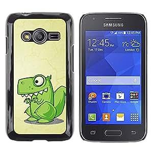 Paccase / Dura PC Caso Funda Carcasa de Protección para - Dinosaur Green Cute Reptile Drawing Art - Samsung Galaxy Ace 4 G313 SM-G313F