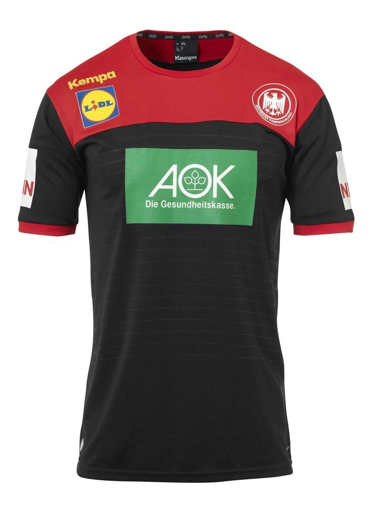 Kempa Handball Herren DHB Trikot Away 2018 2019 Deutscher Handballbund Auswärtsshirt schwarz rot