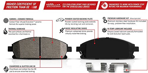 Power Stop Z23-1679 Z23 Evolution Sport Carbon Fiber Infused Ceramic Brake Pad with Hardware