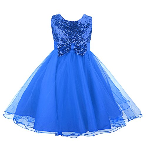 Acecharming Girls Dress Wedding Sequin product image