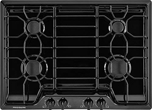 Frigidaire FFGC3010Q 30 Inch Wide Built-In Gas Cooktop with Angled Front Control, Black