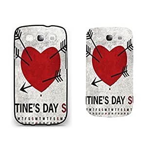 Vintage Love Heart Series Pattern Samsung Galaxy S3 Case Cover Hipster Cupid Arrows Monogrammed Hard Phone Case Skin for Girls