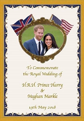 Prince Harry and Meghan Markle Royal Wedding Commemorative Fridge Magnet ()