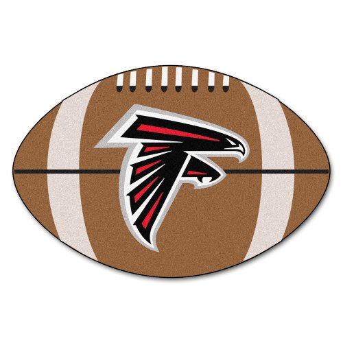 FANMATS NFL Atlanta Falcons Nylon Face Football Rug ()