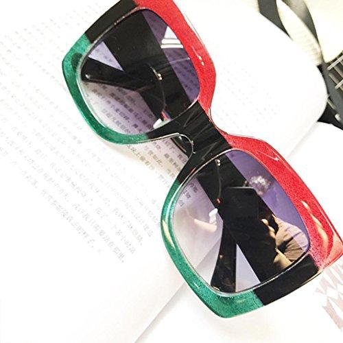 Aviateur Surdimensionnées Lunettes pour Les C Square Lunettes Gradient de de Luxe de Protection Soleil Vintage Mode Lens conducteurs Femmes Soleil nnaZ0