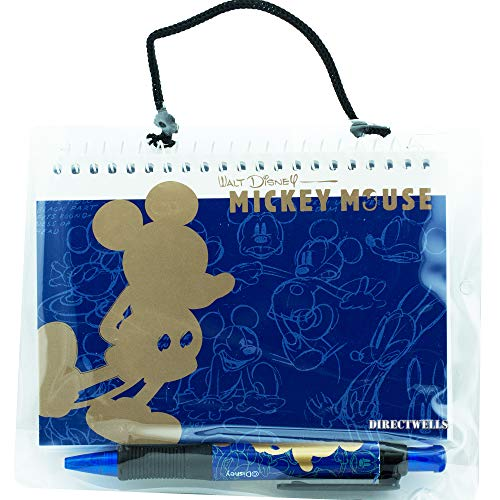 Disney Mickey Mouse Gold Blue Autograph Book with Retractable Pen from MICKEY AUTOGRAPH