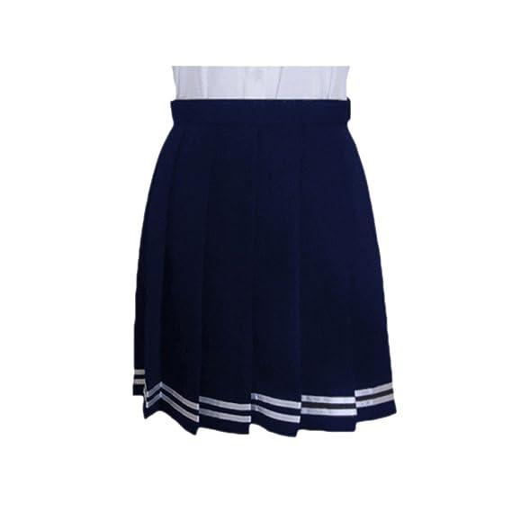 QIYUN.Z Moda Cosplay Japones Plisadas Alta Cintura Uniformes ...