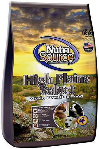 Nutri Source High Plains Select Grain-Free Beef and Trout Dog Food 5 Pound Bag