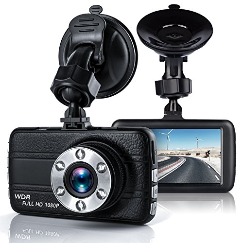 "Price comparison product image Dash Cam,  Aosmart Full HD 1080P DVR Dash Camera 170 Degree Wide Angle Dash Camcorder with Night Vision 3.0"" TFT Display"