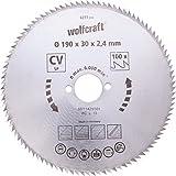 Wolfcraft 6281000 - lama per sega circolare manuale 100 denti Ø 210 mm, serie blu