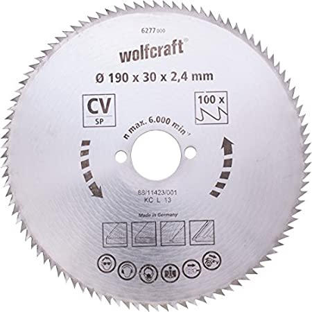 Wolfcraft 6281000 210 x 30 x 24mm cv circular saw blade with 100 wolfcraft 6281000 210 x 30 x 24mm cv circular saw blade with 100 teeth greentooth Image collections