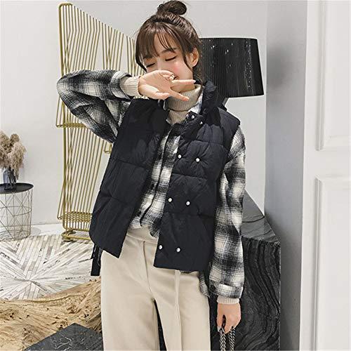 Noir Femme Légère Manteaux Parka Blouson Sans Chaud Hiver Ultra Manteau Zippée Gilet Veste Manche qxFwqC14RH