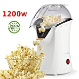 Best Hot Air Popcorn Poppers - Popcorn Popper, Hot Air Popcorn Maker, 1200W Popcorn Review