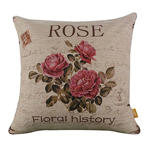 LINKWELL vintage rose pink accent pillow - shabby chic