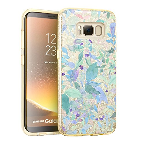 Price comparison product image Beryerbi Samsung Galaxy s8/s8 Plus Case Bling Glitter Sparkle Shell Skin Protect Cover (Galaxy s8, 6)
