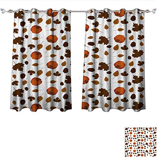 Light Sturbridge 6 (DragonBui Customized Curtains Thanksgiving Day Pattern Wallpaper Tie Up Shades Rod Blackout Curtains W63 x L72/Pair)