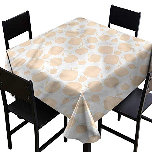 Apple Resistant Table Cover Seasonal Fruit Silhouette Party Decorations Table Cover Cloth 54 x 54 Inch