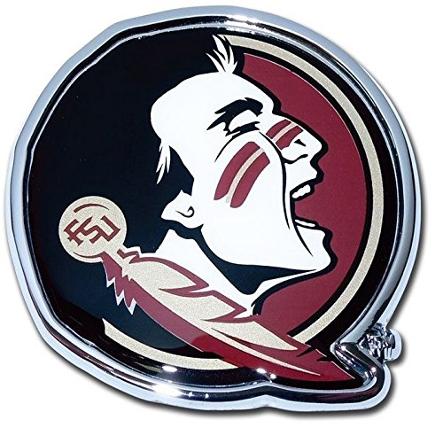 [Florida State University METAL Auto Emblem (mascot design with colors)] (Mascot Design)