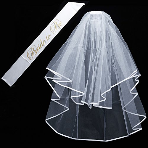 Wedding supplies and accessories amazon qnprt bride to be decoration set for bachelorette party supply junglespirit Images