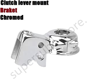 Chrome Clutch Lever Mount Bracket Perch For Harley Touring Dyna Softail Sportster