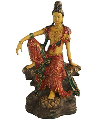 - Colorful Royal Ease Kuan Yin Statue, 10.5 Inches