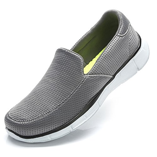 CAMEL CROWN Walking Shoes Men's Slip-on Sneakers Lightweight Running Shoe Comfortable Casual Loafers(Dark Gray, 6 D(M) US)