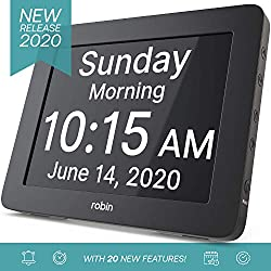 [2020 Version] Digital Day Clock 2.0 with Custom Alarms and Calendar Reminders, Alarm Clock with Extra Large Display helps with Memory Loss, Alzheimers and Dementia